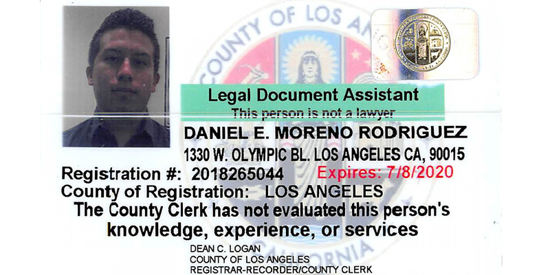 Daniel E. Moreno Paralegal of Progresso Legal Group